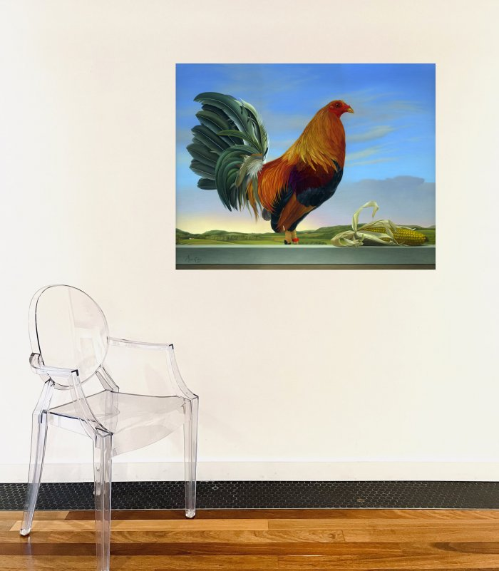 Marco-Tulio-Rooster-Online-Art-Galleries-18-24-on-the-wall