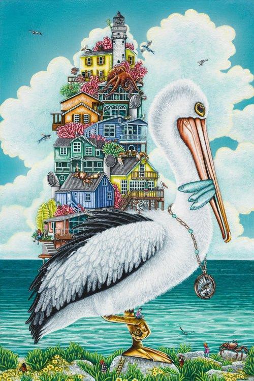Brandy-Masch-Pelicans-Perch-36x24-Online-Art-Galleries