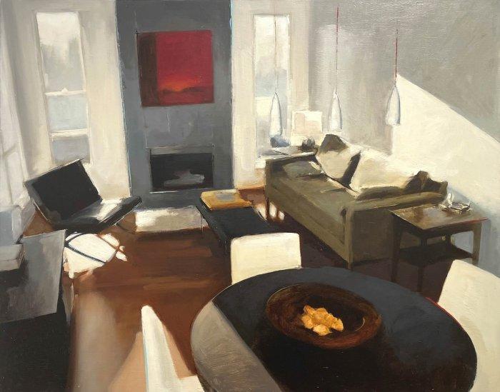 David-Edwards-As-The-Light-Slopes-Through-2008-Oil-On-Panel-24x30-2600-Online-Art-Galleries