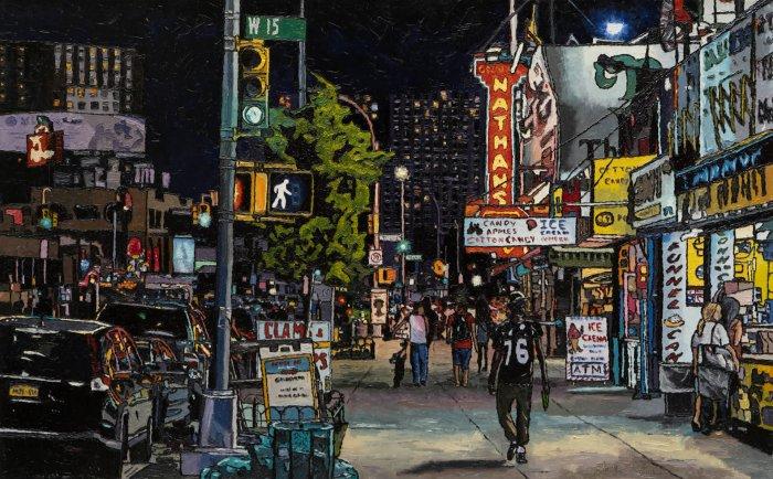 Emilie-Fantuz-Through-The-Streets-oil-on-canvas-30x48-2020-3900-Online-Art-Galleries