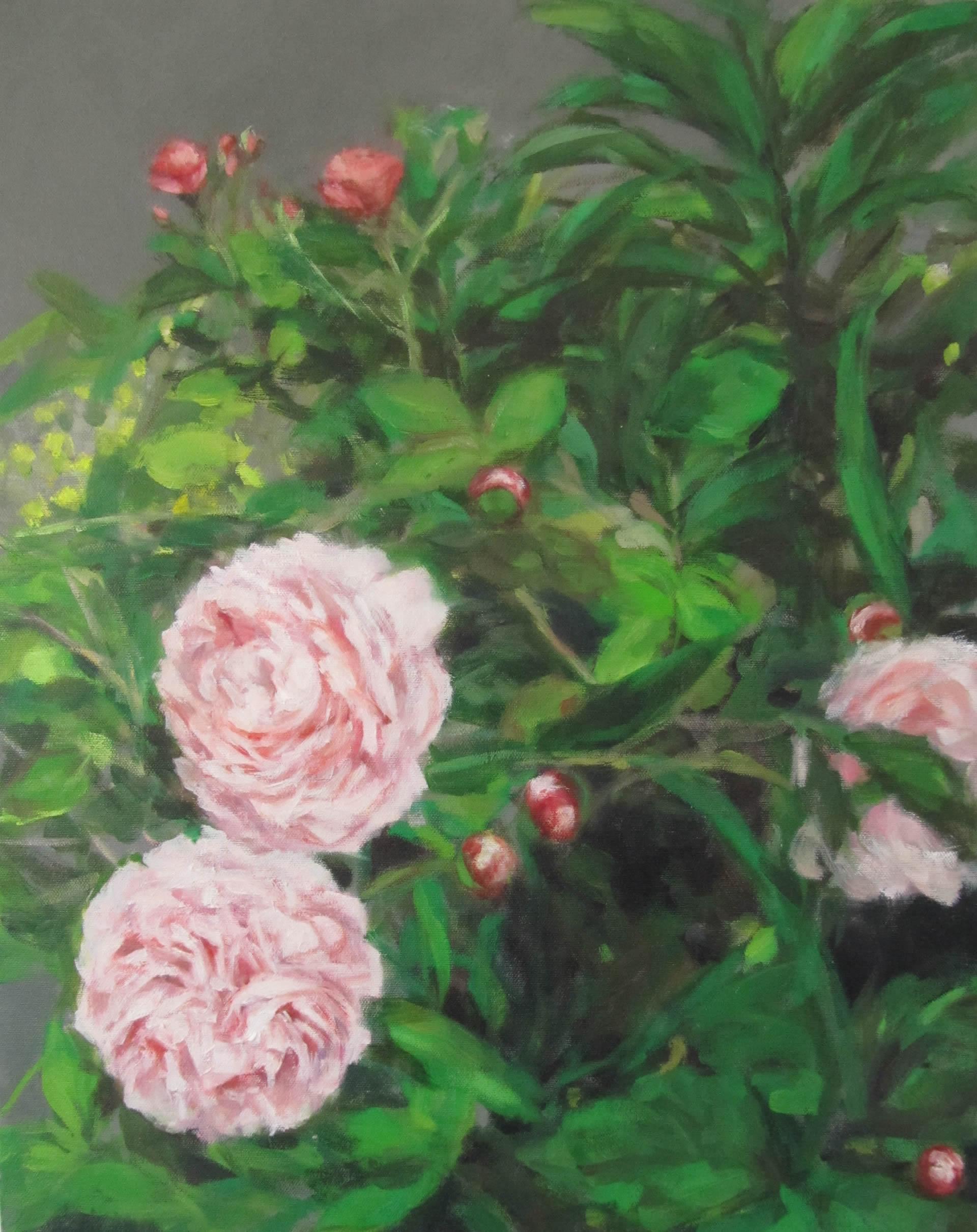 Eri-Ishii-Peonies-In-Garden-20x16-Online-Art-Galleries