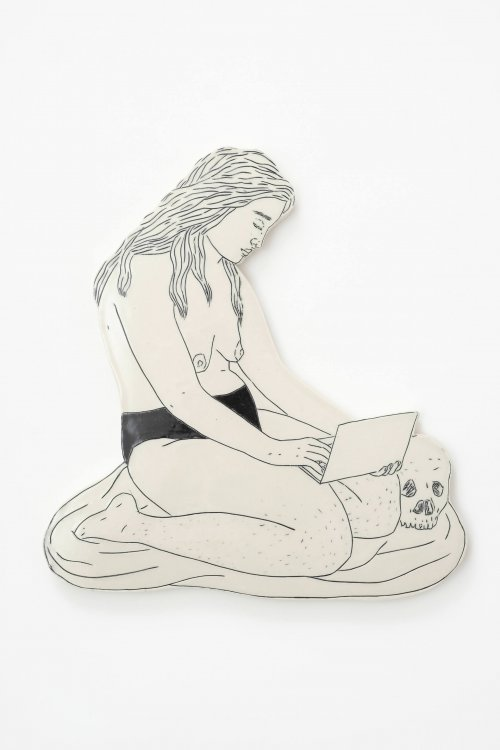 Genevieve-Dionne-Woman-With-Laptop-Online-Art-Galleries