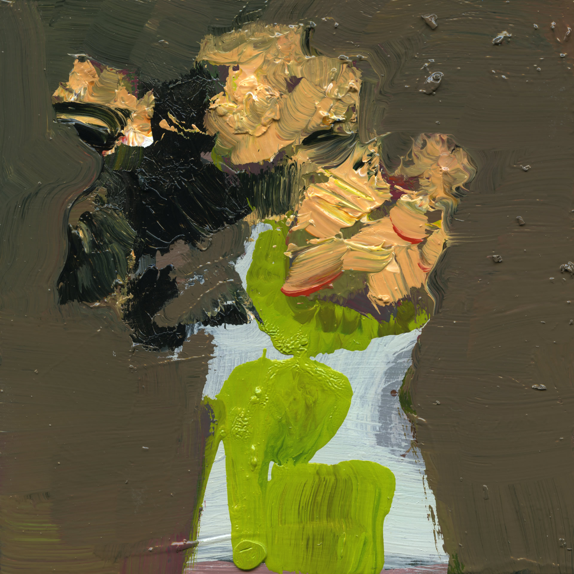 Jennifer-Hornyak-White-with-Lime-Green-6x6-Online-Art-Galleries-