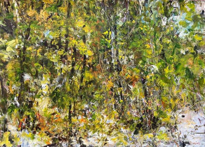 Judy-Cheng-Quarry-Rock-III-2010-Acrylic-On-Paper-23x30-Framed-3600-Online-Art-Galleries