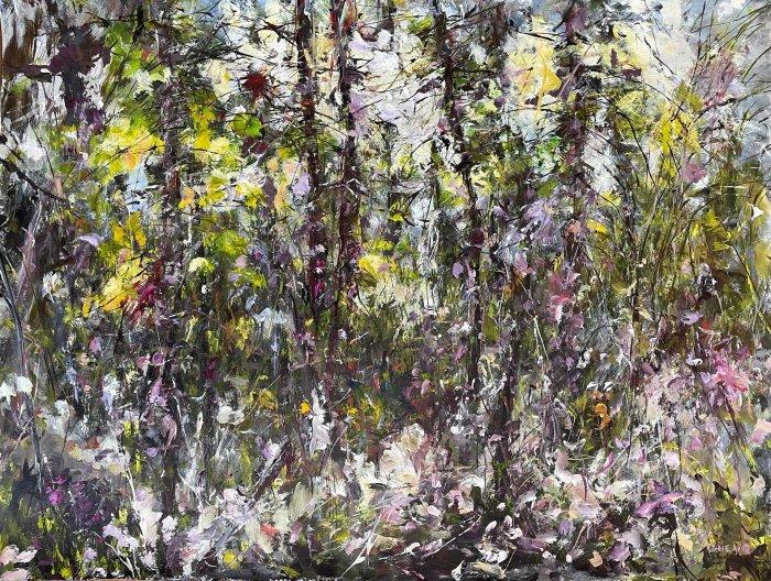 Judy-Cheng-Summer-2010-Acrylic-On-Paper-23x30-Framed-3600-Online-Art-Galleries