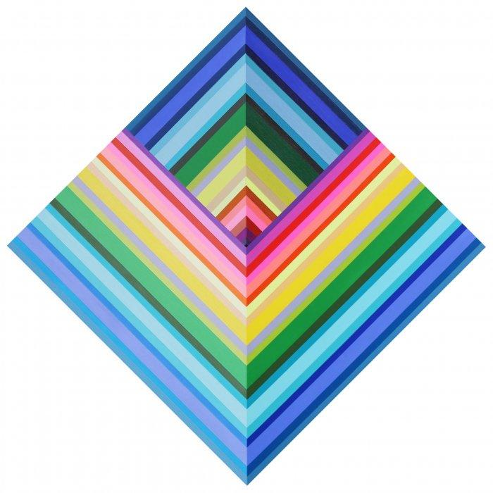 Kristofir-Dean-Inverse-Spectrum-Pyramid-24x24-Online-Art-Galleries
