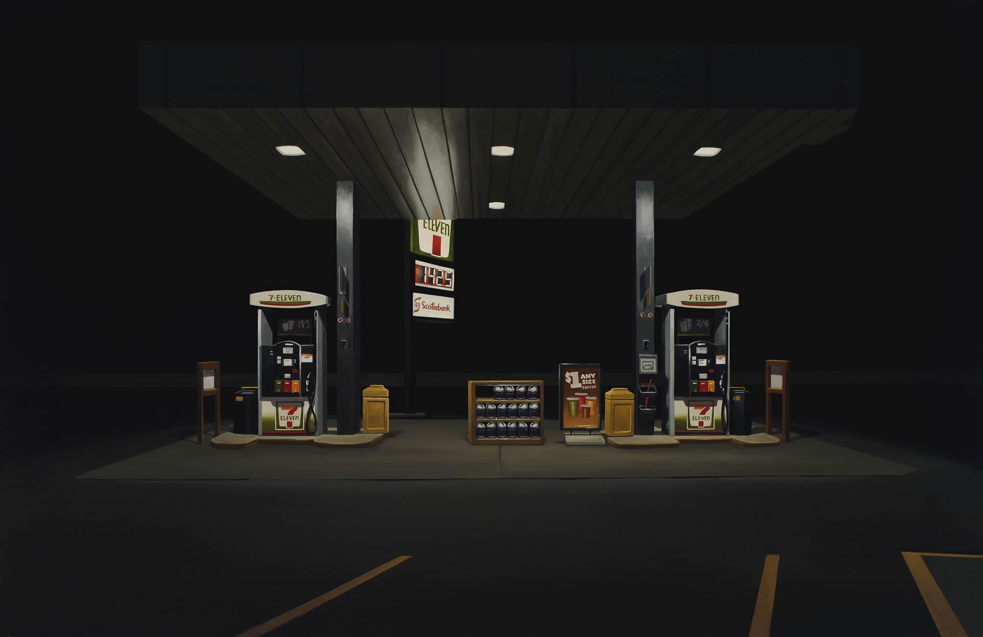 Peter-Harris-7-Eleven-At-Midnight-30x46-Online-Art-Galleries