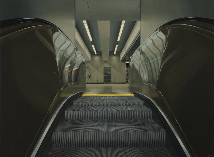 Peter-Harris-Escalator-28x38-Online-Art-Galleries