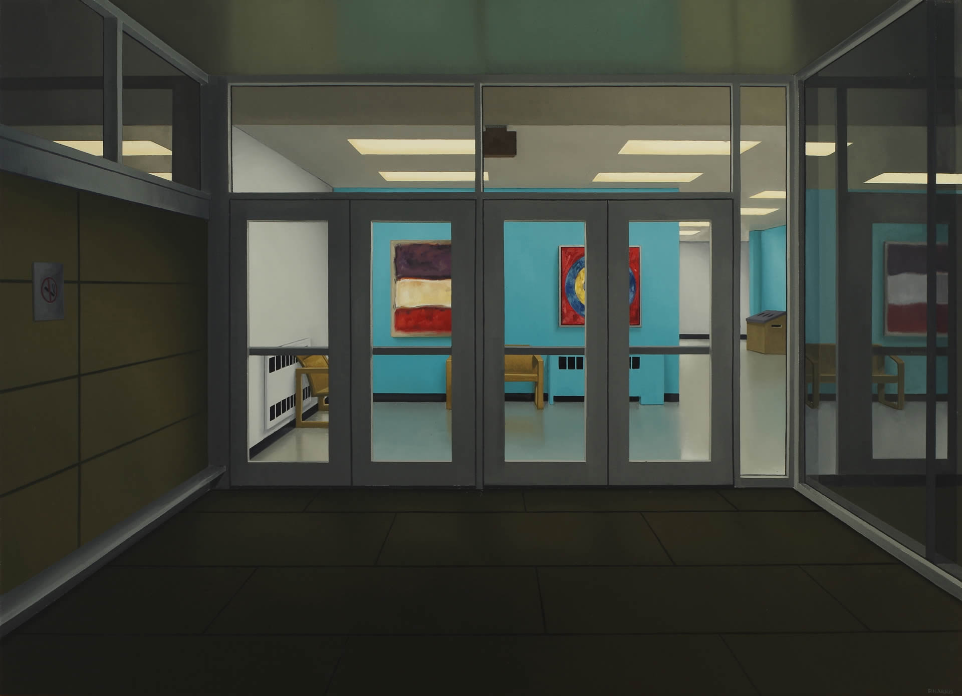 Peter-Harris-Exit-With-Rothko-And-Johns-26x36-Online-Art-Galleries