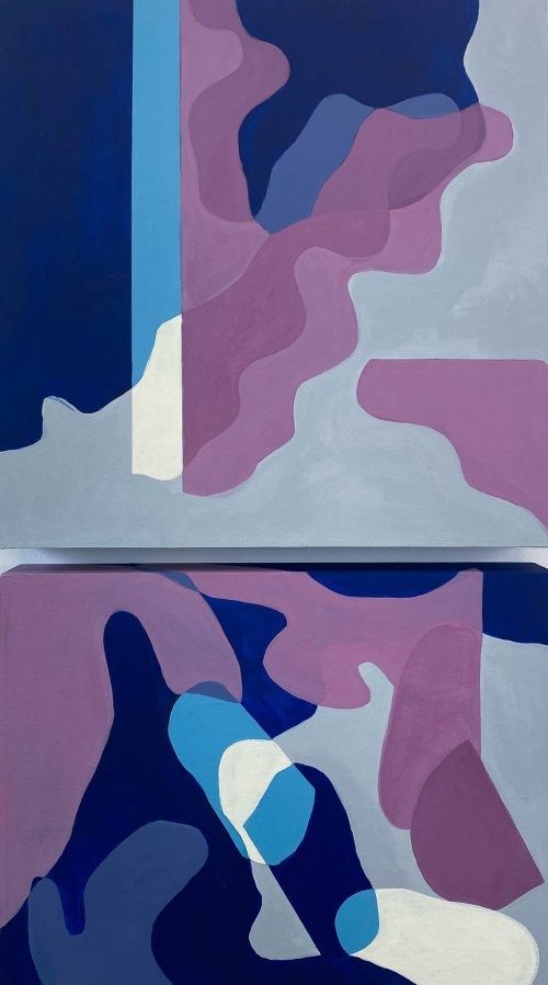 Tristesse-Seeliger-Shadow-Territory-Acrylic-On-Panel-21x12-Diptych-700-Online-Art-Galleries