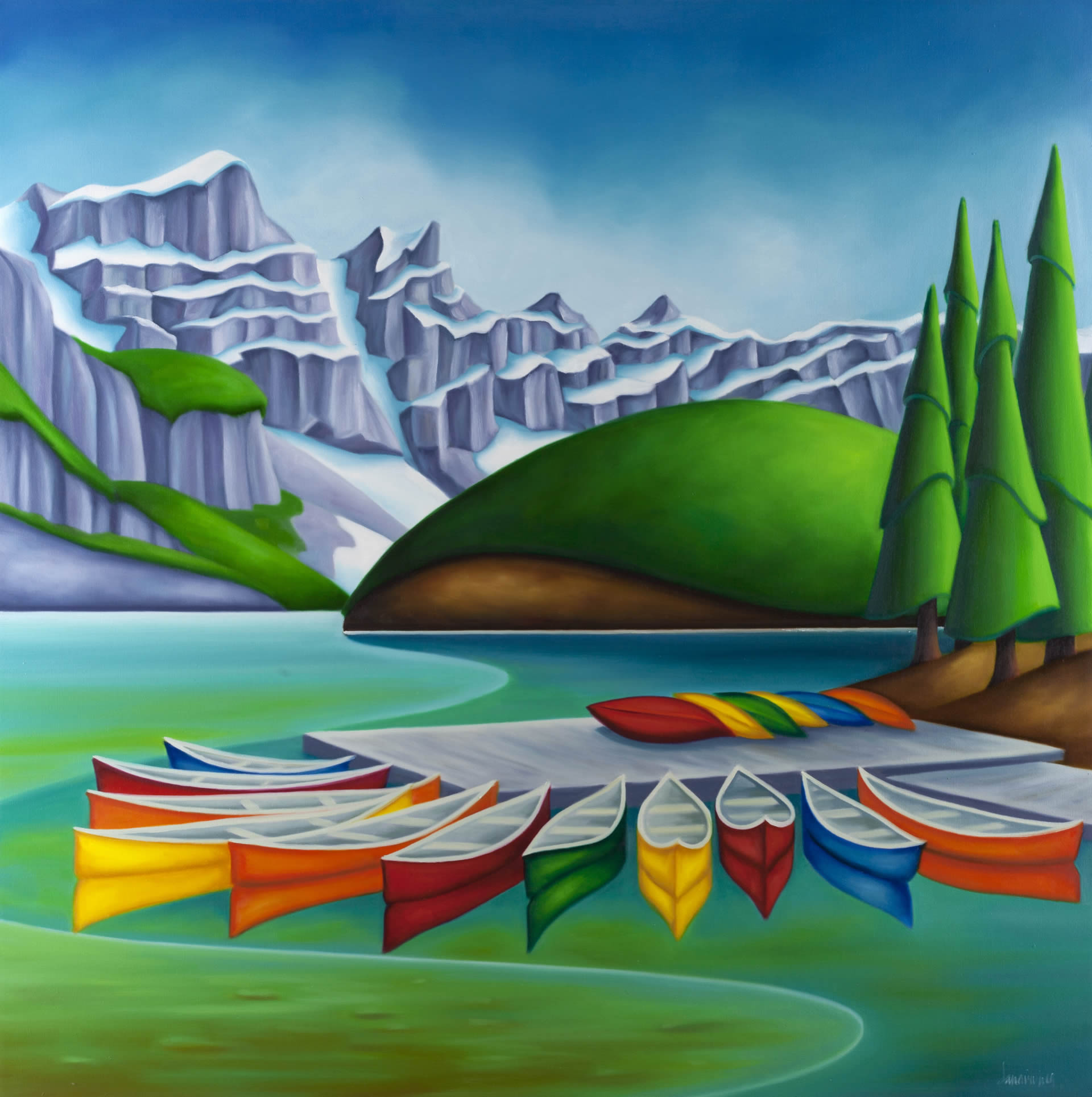 Dana-Irving-Happy-2020-Oil-On-Canvas-36x36-4500-Online-Art-Galleries