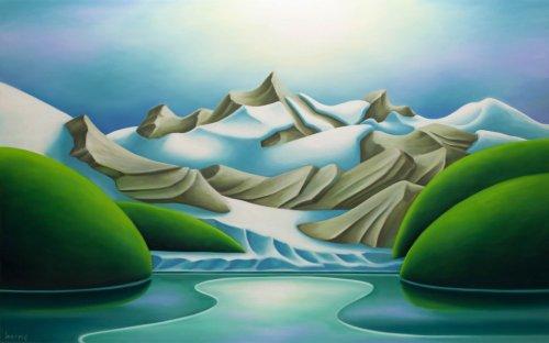 Dana-Irving-Marjorie-Glacier-2020-Oil-On-Canvas-30x48-4700-Online-Art-Galleries