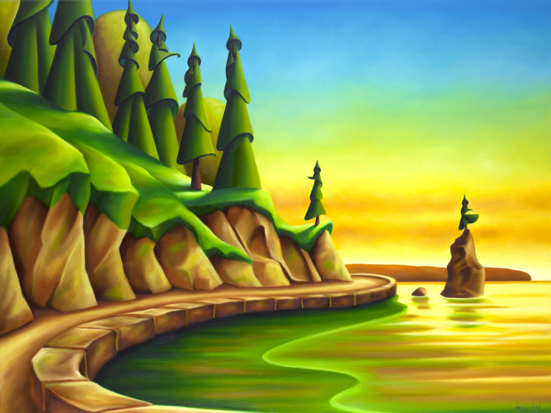 Dana-Irving-The-Long-Day-Is-Over-2021-30x40-Oil-On-Canvas-Online-Art-Galleries