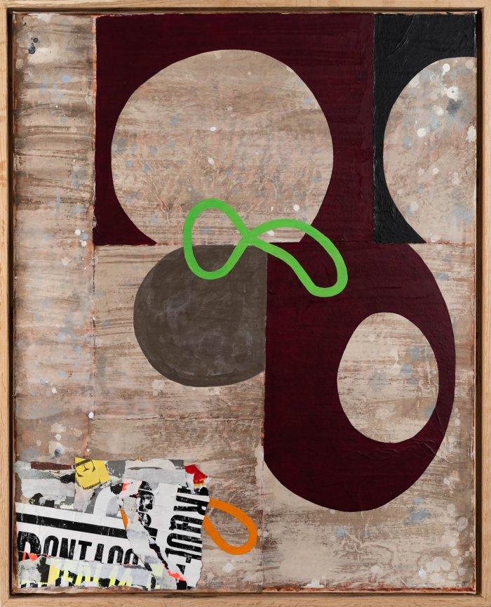 Hugh-Kearney-Green-Wiggle-Mixed-Media-On-Paper-On-Canvas-31_5x25_5-framed-1900-Online-Art-Galleries