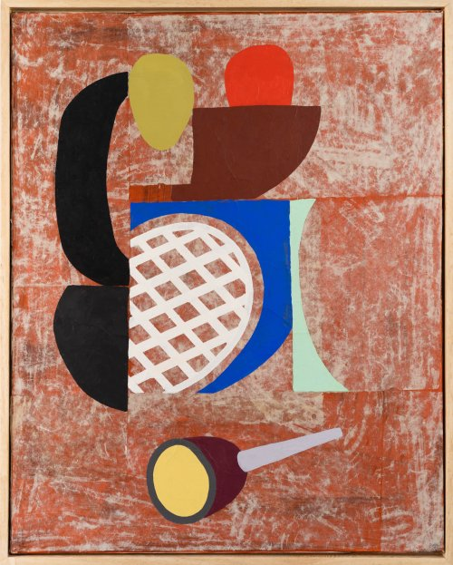 Hugh-Kearney-Second-Pipe-Mixed-Media-On-Paper-On-Canvas-31_5x25_5-1900-Online-Art-Galleries