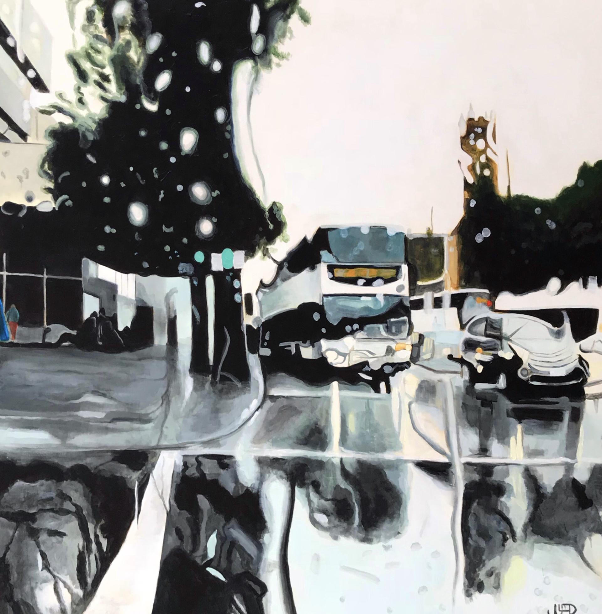 Jonathan-Gleed-Just-Another-Weekday-2018-Acrylic-On-Panel-36x36-3000-Online-Art-Galleries