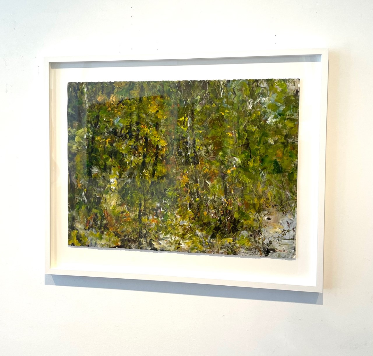 Judy-Cheng-Quarry-Rock-III-2010-Acrylic-On-Paper-23x30-Framed-3600-Online-Art-Galleries-front
