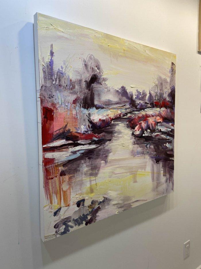 Julie-Himel-In-Dreaming-She-Walks-2020-Oil-On-Canvas-36x36-3250-side-Online-Art-Galleries