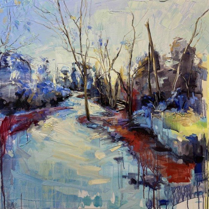 Julie-Himel-Primary-Nature-2019-Oil-On-Canvas-40x40-Framed-4000-Online-Art-Galleries