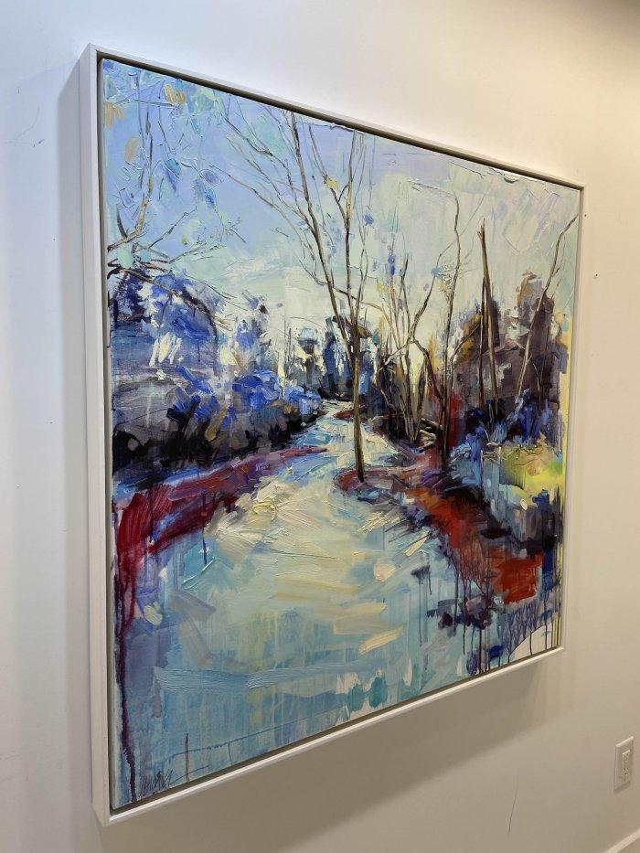 Julie-Himel-Primary-Nature-2019-Oil-On-Canvas-40x40-Framed-4000-side-Online-Art-Galleries
