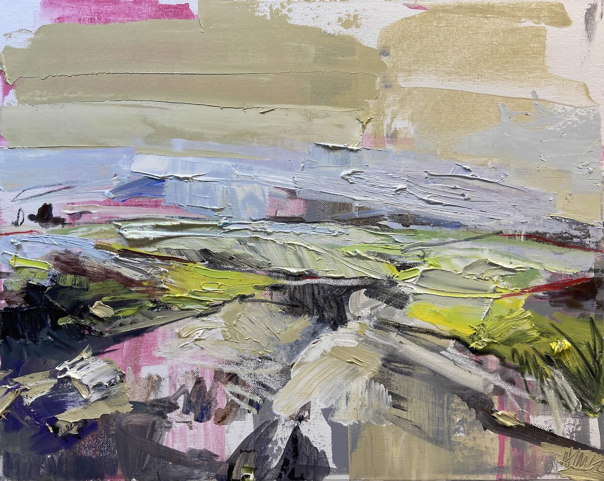 Julie-Himel-Rugged-Memory-Distant-Land-2020-Oil-on-canvas-16x20-Framed-1400-Online-Art-Galleries