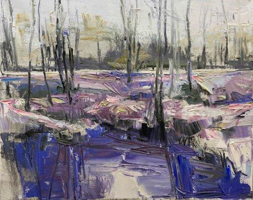 Julie-Himel-Shutter-Speed-Of-A-Daydream-2-2020-Oil-On-Canvas-16x20-Framed-1400-Online-Art-Galleries