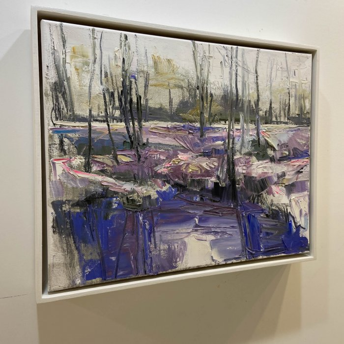 Julie-Himel-Shutter-Speed-Of-A-Daydream-2-2020-Oil-On-Canvas-16x20-Framed-1400-side-Online-Art-Galleries