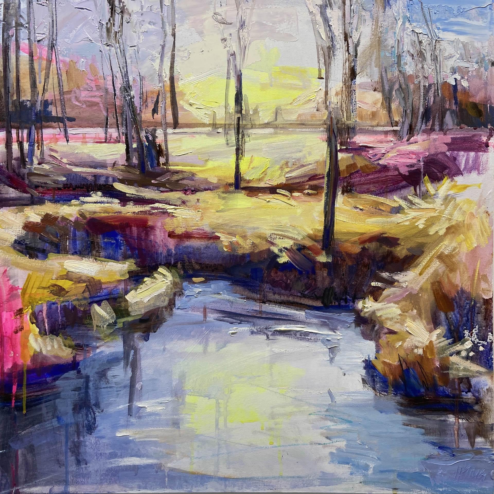Julie-Himel-Shutter-Speed-Of-A-Daydream-4-2020-Oil-On-Canvas-24x24-2000-Online-Art-Galleries