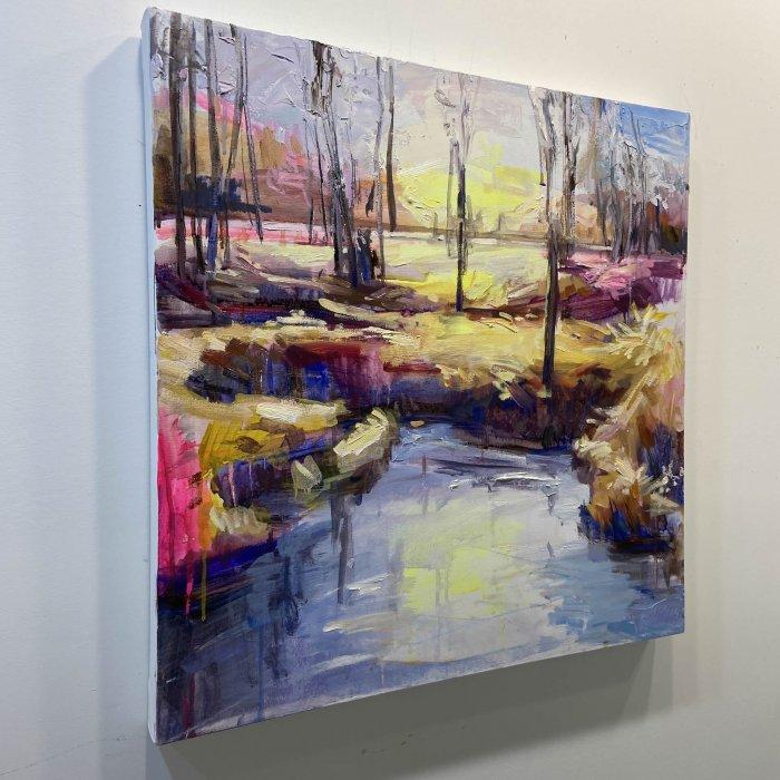 Julie-Himel-Shutter-Speed-Of-A-Daydream-4-2020-Oil-On-Canvas-24x24-2000-side-Online-Art-Galleries