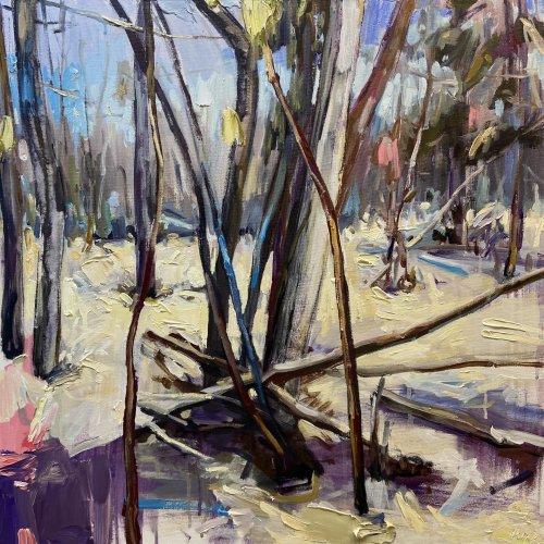 Julie-Himel-Translations-2021-Oil-On-Canvas-24x24-2000-Online-Art-Galleries
