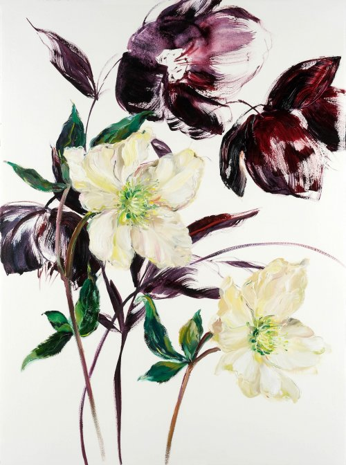 Krista-Johnson-Hellebores-A-New-Year-2021-Oil-On-Paper-30x22-850-Online-Art-Galleries