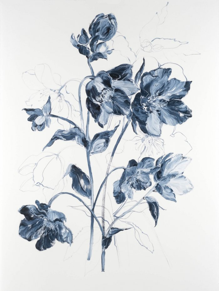 Krista-Johnson-Hellebores-Sweet-Dreams-2021-Oil-On-Paper-30x22-850-Online-Art-Galleries