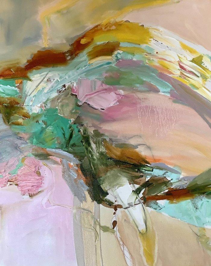 Sharon-Barr-Bending-Oil-On-Canvas-20x16-Online-Art-Galleries
