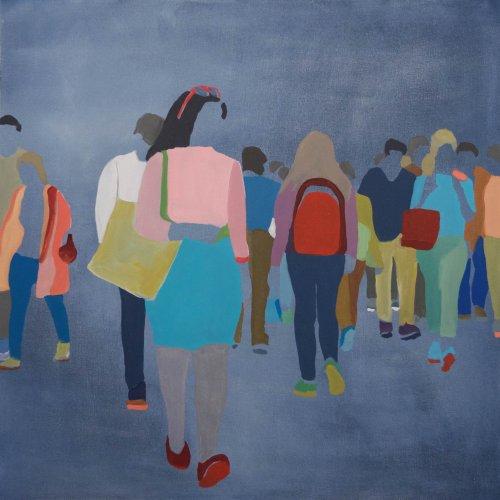 Sherry-Czekus-Intersection-On-Dark-Denim-2021-Oil-On-Canvas-30x30-1800-Online-Art-Galleries
