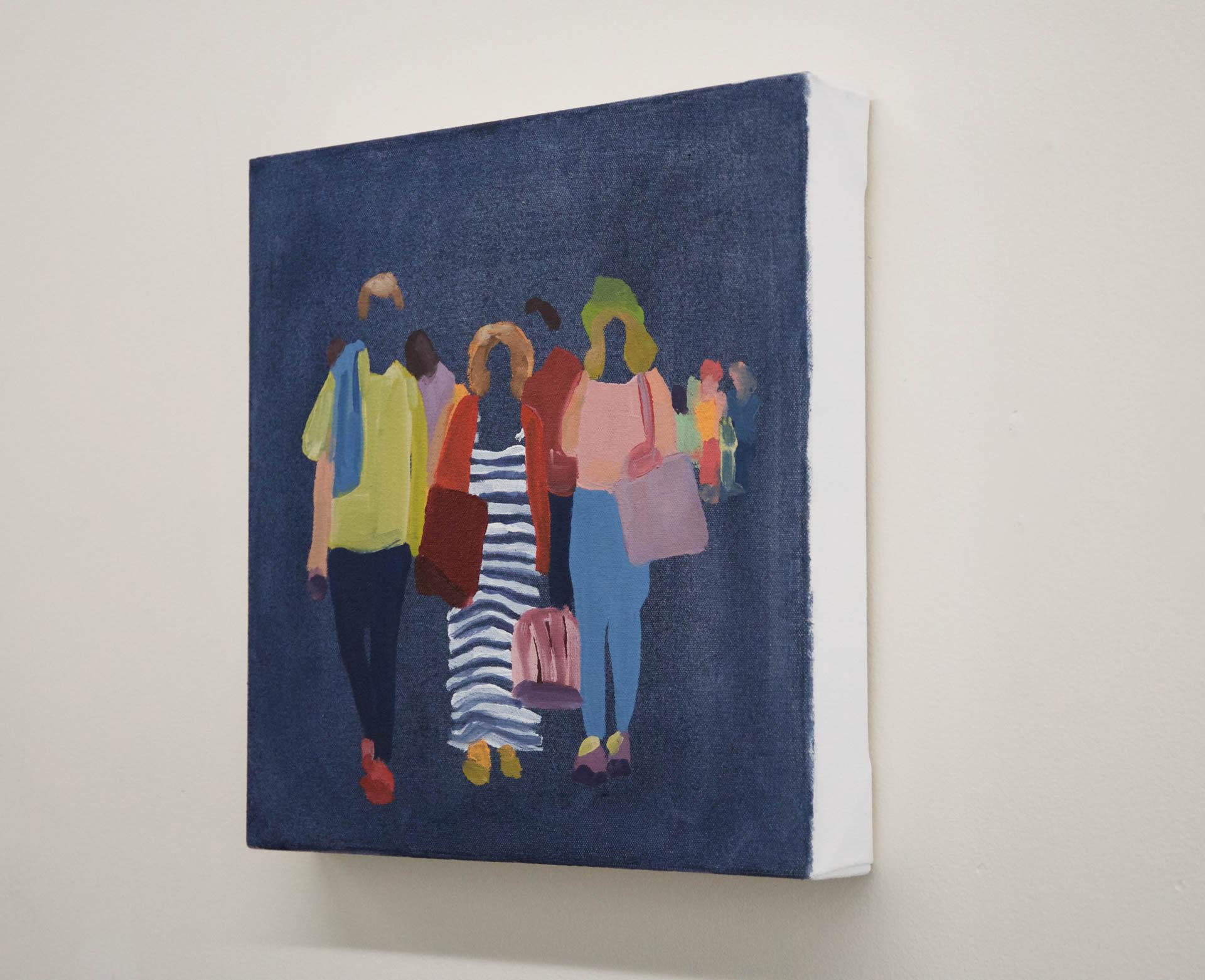 Sherry-Czekus-Pedestrians-On-Dark-Denim-2021-Oil-On-Canvas-12x12-500-Online-Art-Galleries-1920-side
