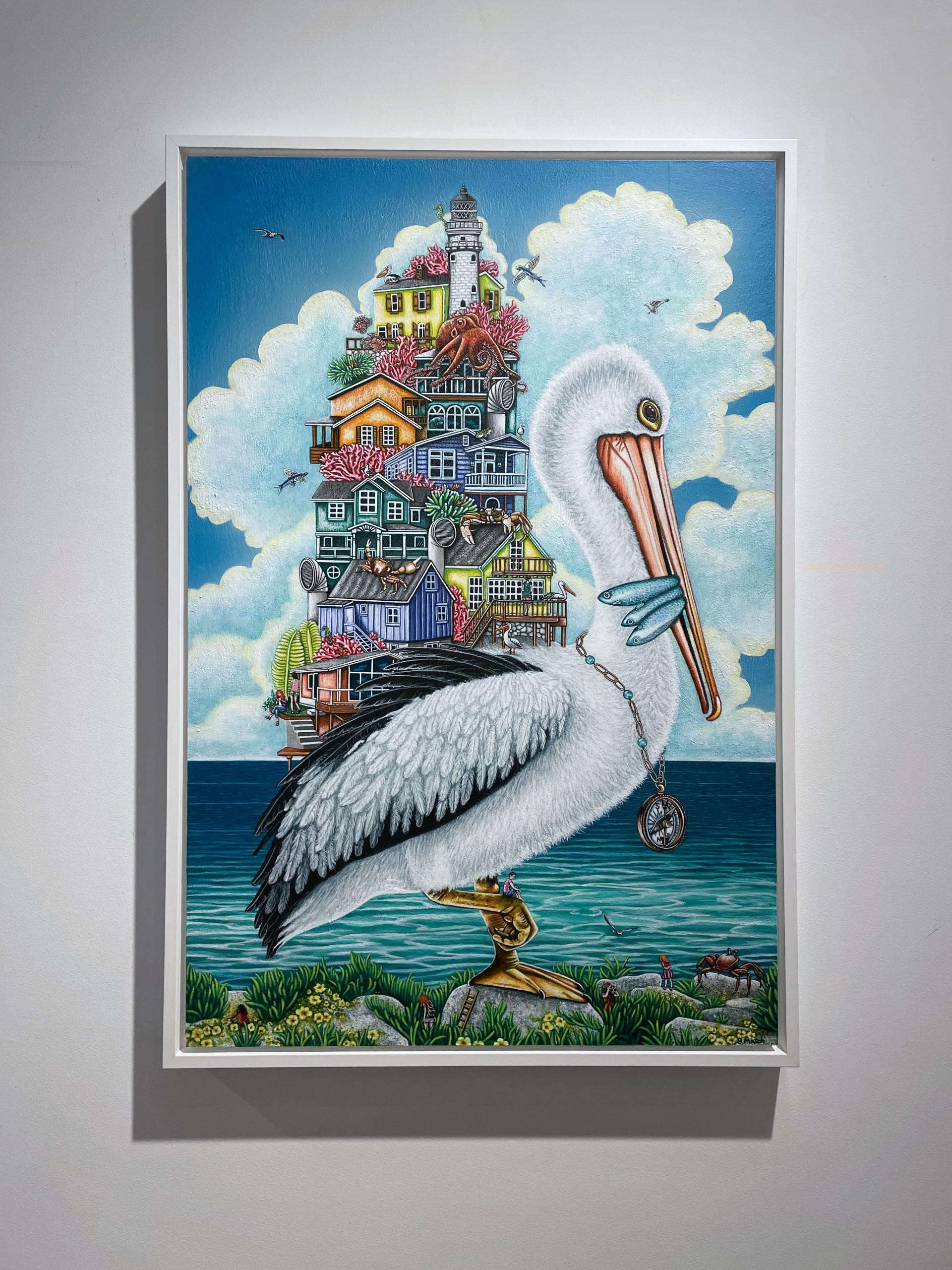 Brandy-Masch-Pelicans-Perch-36x24-Front-Online-Art-Galleries