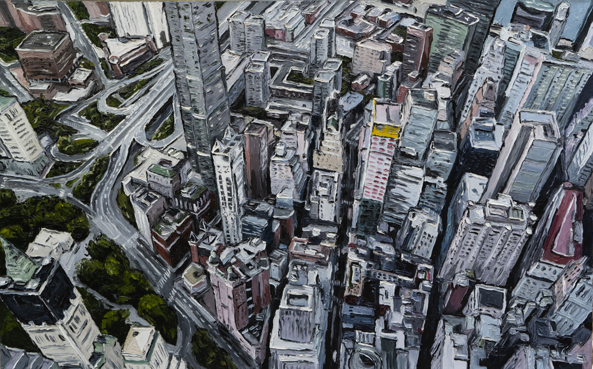 Mike-Fantuz-Broadway-and-Fulton-2020-oil-on-canvas-30x48-3900-Online-Art-Galleries