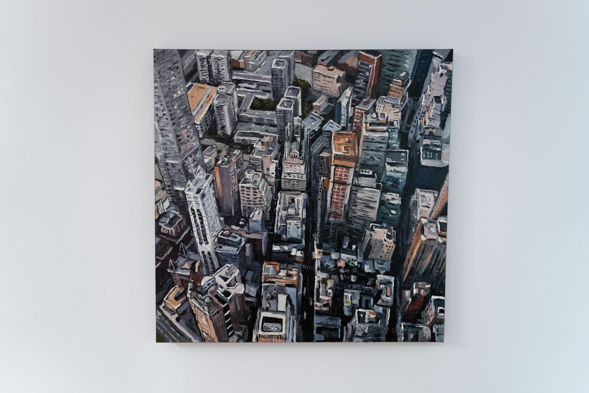 Mike-Fantuz-Up-Fulton-2020-oil-on-canvas-40x40-4000-Front-Online-Art-Galleries