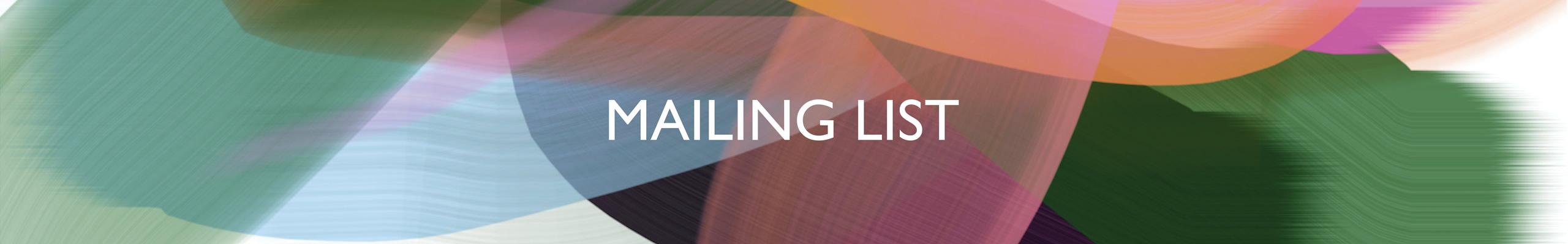 Mailing List Online Art Galleries