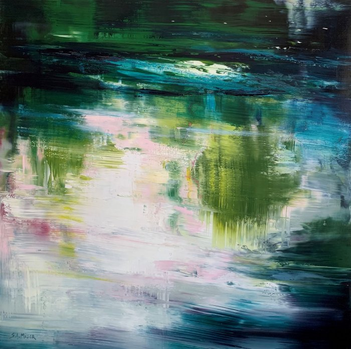 Sue-A-Miller-Rhythm-In-Motion-2021-Oil-on-panel-36x36-3200-Online-Art-Galleries