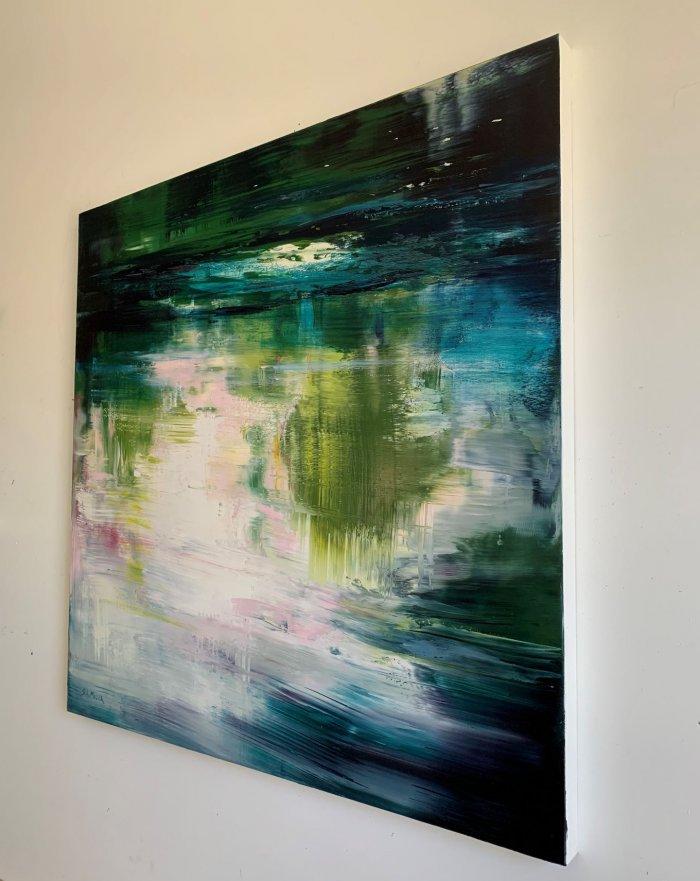 Sue-A-Miller-Rhythm-In-Motion-2021-Oil-on-panel-36x36-3200-Side-Online-Art-Galleries