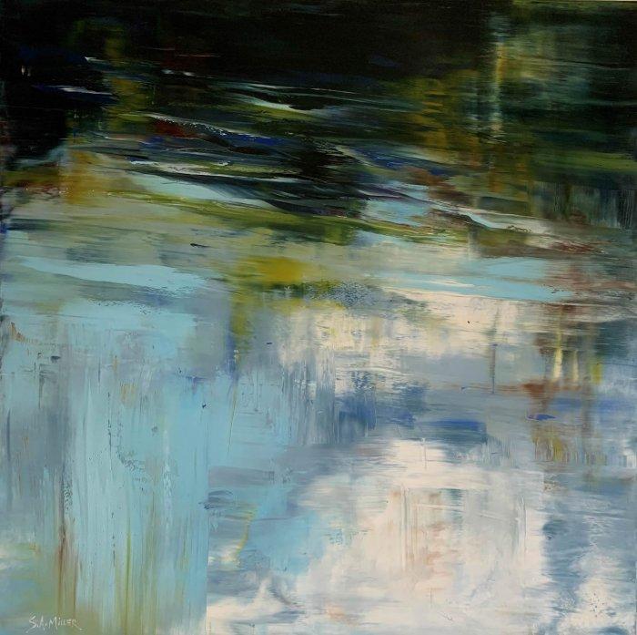 Sue-A-Miller-Speaking-Of-Summer-2021-Oil-On-Panel-36x36-3200-Online-Art-Galleries