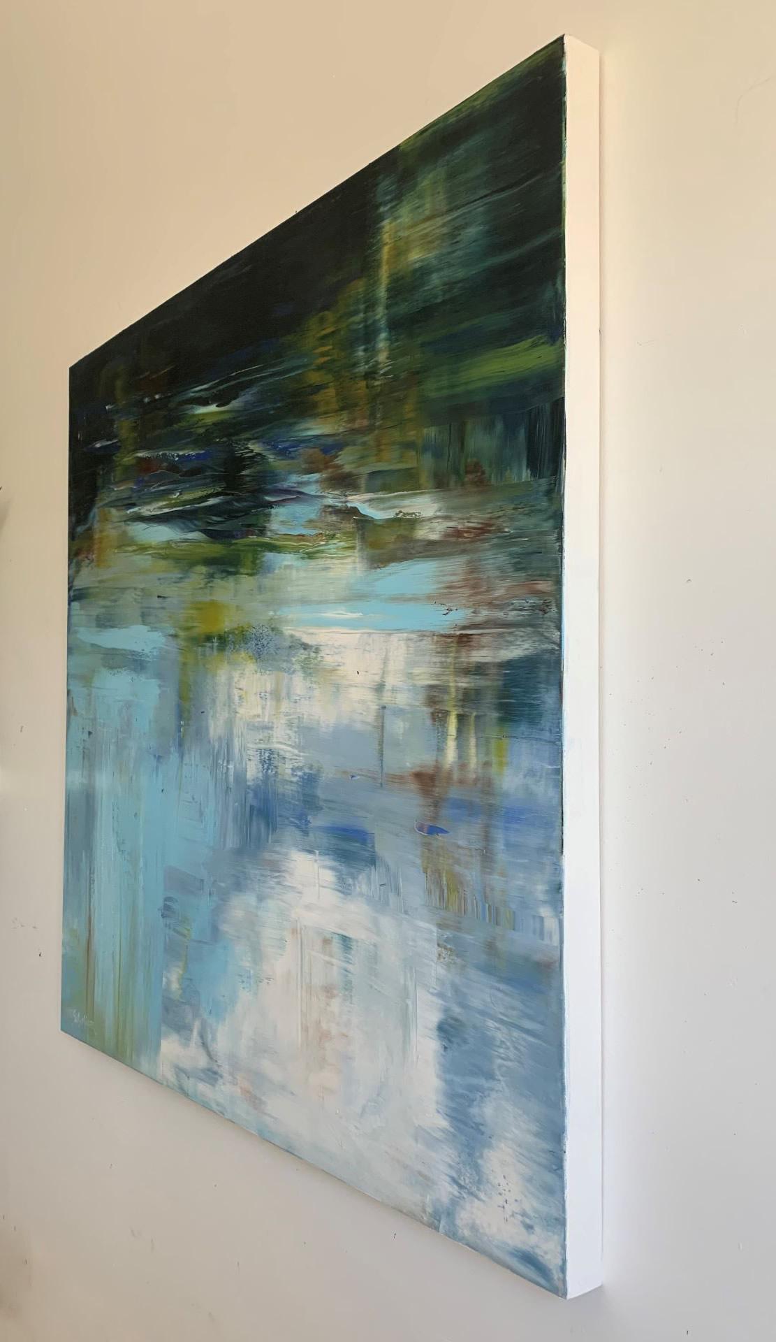 Sue-A-Miller-Speaking-Of-Summer-2021-Oil-On-Panel-36x36-3200-Side-Online-Art-Galleries
